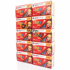 Agfa Vista Plus 200 135 35mm 24 Exp Colour Negative Print Film 10 Pack Fresh