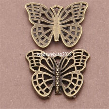 12pc Antique Bronze butterfly Pendant Charms Beads Accessories wholesale PL317