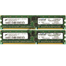 Crucial 1GB 2x512MB PC2700 DDR333MHz ECC Reg 184-Pin DIMM Memory CT6472Y335