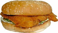 1 Pair of CHICKEN BURGER STICKERS - CATERING VAN CAFE KIOSKS FOOD STICKERS.