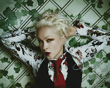 Cyndi Lauper Signed 10x8 Photo AFTAL