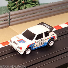 Tyco 1:64 Slot Car - Peugeot 205 Rally #2