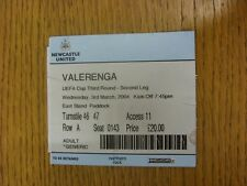 03/03/2004 Ticket: Newcastle United v Valerenga [UEFA Cup] (Light Crease). Trust