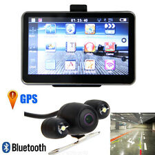"5"" Car LCD Touch Screen Mirror GPS Wireless Navigation Bluetooth+Reverse Camera"