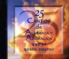 25 Cantos De Alabanza y Adoracion Que Te Gusta Cantar CD Musica Cristiana