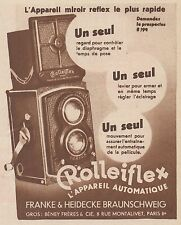 Z9642 ROLLEIFLEX l'appareil automatique -  Pubblicità d'epoca - 1934 Old advert