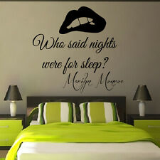 Wall Decals Marilyn Monroe Quote Love Decal Vinyl Sticker Bedroom Decor KG848