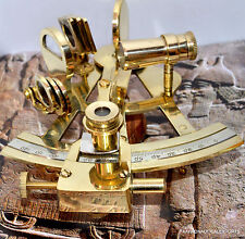 """4"""" Solid Brass Sextant Nautical Maritime Astrolabe Marine Gift Ships Instrument"""