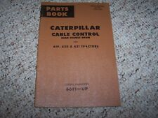 Caterpillar Cat 619 630 631 Tractor 66F1- Factory Parts Catalog Manual