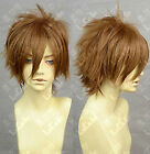 APH Axis Power Hetalia Spain/Suzaku Cosplay Brown Wig
