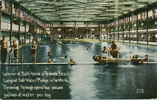 Redondo Beach CA * Bath House Interior Scene  ca. 1908