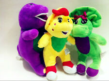 3 pcs Singing Barney & Friends Plush Doll Figures Baby Bop BJ 6.7""