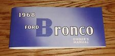 1968 Ford Bronco Owners Operators Manual 68
