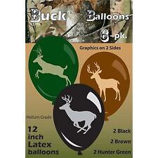 HUNTING CAMO DEER 6 (per pack) Helium Quality Latex Balloons FREE U.S. Ship