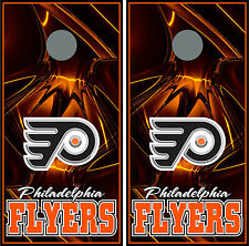 philadelphia flyers 0120 Custom Cornhole board game decal wraps bean bag party