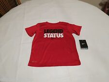 Nike Dri Fit gym red LEGEND STATUS smack talk active T shirt youth 4 kids boy's