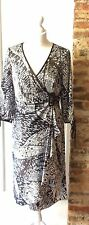 MICHEL AMBERS GREY & BLACK SATIN DRESS BNOT SIZE 16 FITS SMALLER 14 Rrp £180