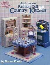 Fashion Doll Country Kitchen for Barbie Plastic Canvas Pattern Leaflet