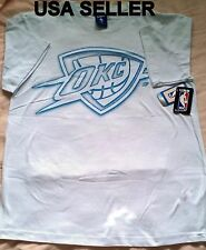 SALE NBA Oklahoma City Thunder Graphic T Shirt White Skate Men 100%Cotton Lg