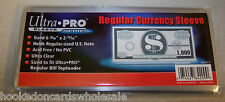 1 Pack 100 Ultra Pro Currency Storage Sleeves Regular Size Bill Holder Protect