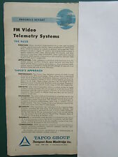 1/1960 PUB TRW TAPCO GROUP FM VIDEOS TELEMETRY WEAPONS SYSTEMS ORIGINAL AD