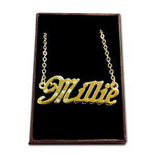 Gold Plated Name Necklace - MILLIE - Gift Ideas For Her - Girlfriend Engagement