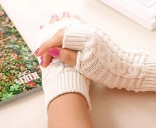 Hand Warmer Mitten Gloves Fingerless Winter Fashion Arm Wrist Crochet Braided