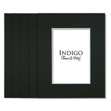 Set of 50 - 12x16 Black Single Mats to fit  8x12 image - with backings!