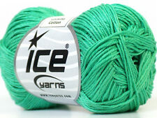 Lot of 6 Skeins Ice Yarns CAMILLA COTTON (100% Mercerized Cotton) Yarn Mint G...