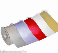 50mm x 20m Double Faced/Sided Satin Ribbon 9 Colours