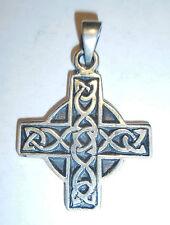 Anhänger Kette KREUZ keltisch Talisman Amulett ECHT Silber 925 Mystik SS40
