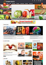 VITAMINS and Supplement Health Nutrition affiliate website for sale Mobile