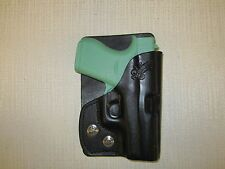 GLOCK 43  9MM  FORMED LEATHER, LEFT HAND, wallet and pocket holster