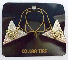Western Country Collar Tips Kragenecken  Kragenspiegel Silber/Gold Indianer
