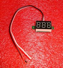 Mini Digital Voltmeter 0-100 VDC GREEN LED Panel Voltage Meter with Three Wires