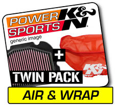 K&N Air Filter & Pre-Charger Wrap YAMAHA YFZ350 Banshee 1987-2006  #YA-3502