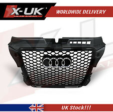 A3 S3 TO RS3 2009-2012 FRONT GRILL MATT BLACK WITH GLOSS BLACK SURROUND