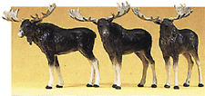 HO Preiser THREE MOOSE FIGURES  1/87 scale for Northwoods diorama