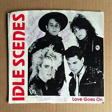 """IDLE SCENES """"LOVE GOES ON"""" DR-1011 w/MISPRINT LABEL 7"""" SINGLE SIGNED BY BAND! NM"""