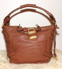 Chloe Paddington Hobo Brown Leather Padlock Shoulder Bag