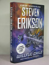 1st, signed by author, Willful Child by Steven Erikson (2014) A Star Trek parady