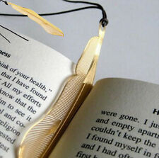Luxury Exquisite golden animal feather bookmark fiction magazine office supplies