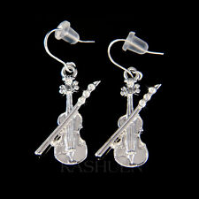 w Swarovski Crystal Violin Fiddle Bow Viola Cello Music Musical Musican Earrings