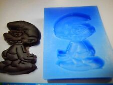 CARTOON figura SILICONE SMURF STAMPO TORTA DECORAZIONE GLASSA Sugarcraft cera sapone
