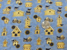 Debbie Mumm Fabric Bird Houses Bird Nests Sunflowers South Sea Imports BTY