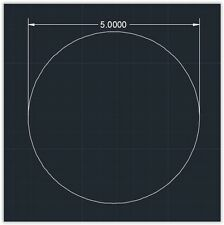 "1pc Acrylic Plastic (plexiglass)  Round  Sheet  - 1/4"" x 5""  Circle  -  Clear"
