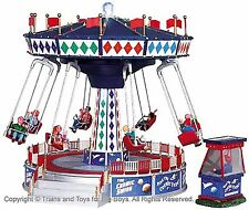 Lemax 94956 THE COSMIC SWING Carnival Ride Amusement Park Christmas Village I