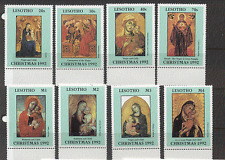 Lesotho 1992 Christmas/Madonna/Child/Art 8v set  n16918