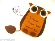 iPhone case - Cute Cute Owl Leave your name on my leaf iPhone / iPod/ Cell phone