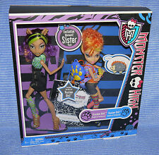 MONSTER High Clawdeen & Howleen Werewolf Sister 2-Pack BAMBOLE DOLLS OVP NEW MIB